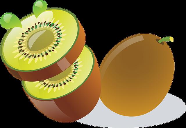 krájené kiwi
