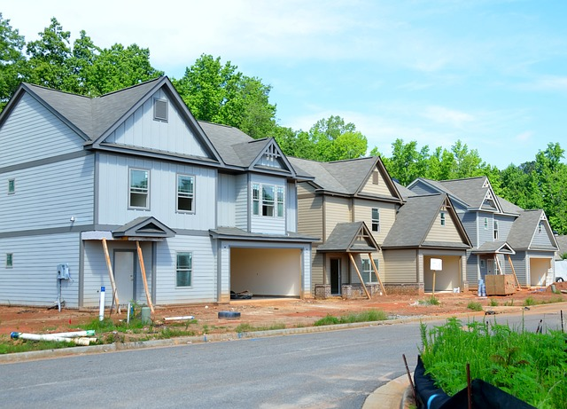 řadovéd domy, výstavba