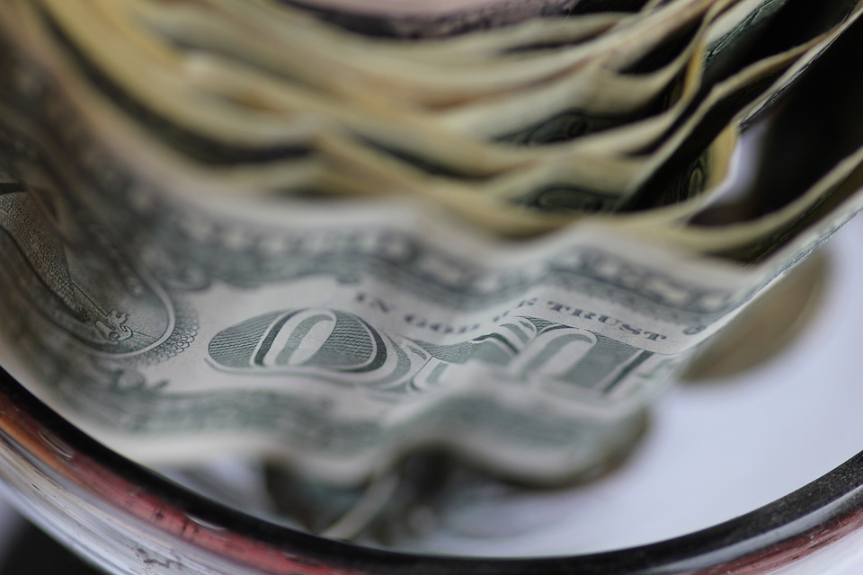 pomačkané dolary